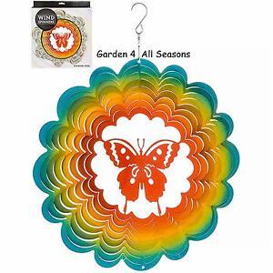 """12 """"/ 30cm Papillon Acier Inoxydable Mobile Vent Pare-soleil Serpe Jardin Cadeau"""