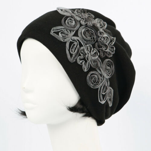 woman BEANIE fall winter indoor Hats knit Cap ROSEW