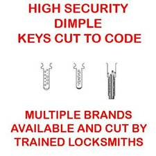 High Security Dimple Keys Cut to Code by Trained Professional Locksmiths