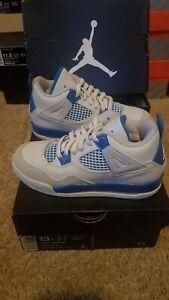 sports shoes 8086e 160ec NIKE AIR JORDAN RETRO 4 IV PS PRESCHOOL 308499-105 MILITARY BLUE 13c ...