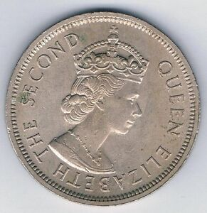 Details about 1960 The Second Queen Elizabeth Hong Kong ONE DOLLAR COIN