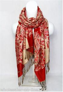 New-fashion-pashmina-100-Cachemire-Femme-Foulard-Floral-etole-chale-Wrap-Scarf