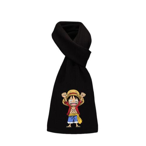 Hommes Femmes Fashion Anime One Piece écharpes LUFFY LAW Logo Châle Cosplay Écharpe Nouveau