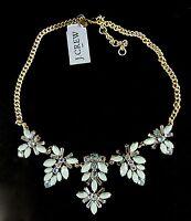 J Crew Statement Necklace Gemstones Blossom Seamist Blue F4426 Includes Bag