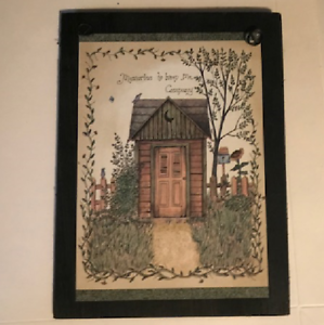 Image Is Loading Memories To Keep Me Company Outhouse Bathroom Rustic