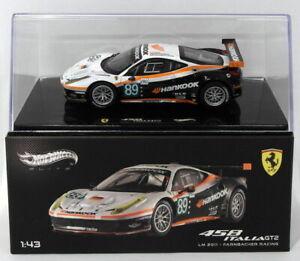 Hot-Wheels-1-43-escala-Diecast-X5498-Ferrari-458-Italia-GT2-Le-Mans-2011