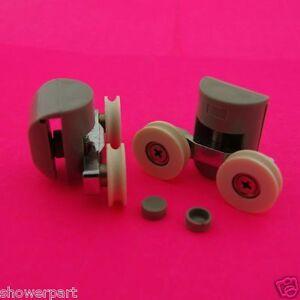 2-x-Twin-Top-Shower-Door-ROLLERS-Runners-Wheels-GROOVED-22mm-Wheel-DIA-L016