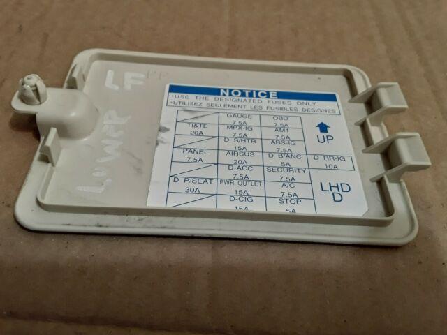 2001 2002 2003 2004 2005 2006 LEXUS LS430 FRONT LEFT FUSE ...