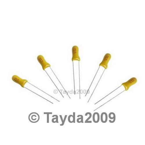 50 x 0.22uF 50V Radial Tantalum Capacitor FREE SHIPPING