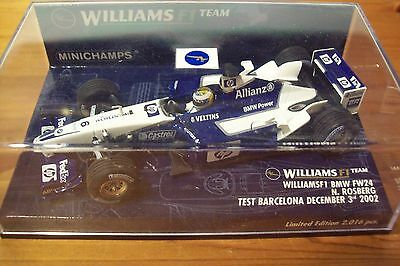 1/43 Williams 2002 Bmw Fw24 Nico Rosberg Barcelona Test-mostra Il Titolo Originale