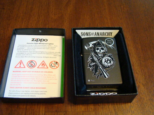 Sons of Anarchy Fear The Reaper Black Matte Zippo Lighter NIB