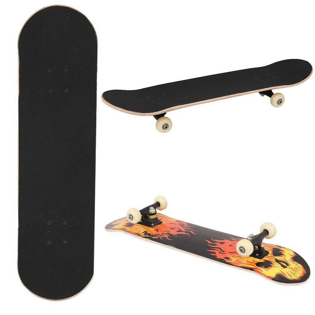 """Outcamer Skateboard 31/"""" X 8/"""" Complet Pro Skateboard Deck Double Kick 9 couche"""