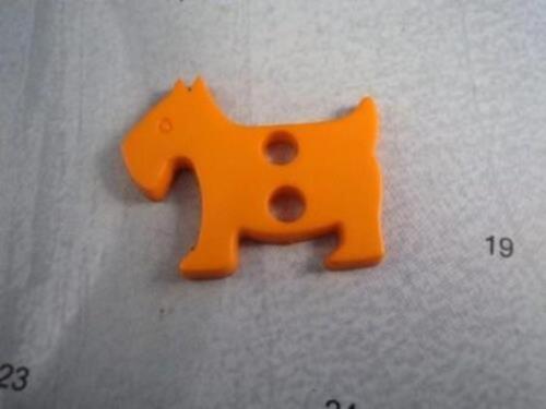 4 Pc scottie Dog 31mm-Grandes Matt Italiano Plástico botones de selección de colores
