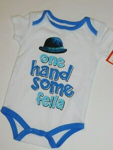 Infant-Boy-0-3-6-9-Month-Outfit-One-Piece-Handsome-Fella
