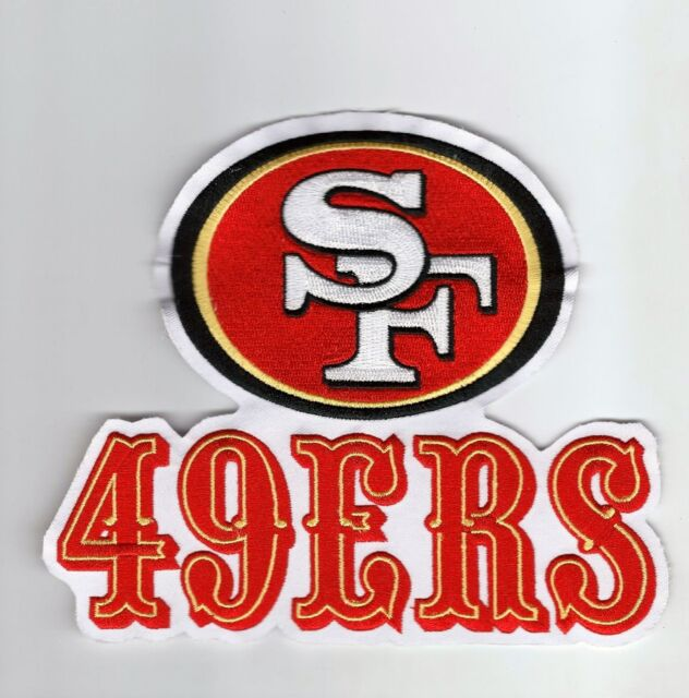 huge san francisco 49ers 7 inch x 6 inch throwback old logo patch