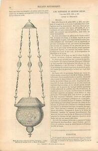 Lampe-en-cuivre-de-Venise-au-XVIe-Siecle-Musee-du-Louvre-GRAVURE-OLD-PRINT-1860