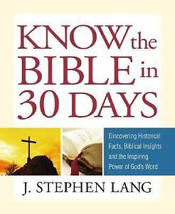 Guideposts-Know-the-Bible-in-30-Days-by-J-Stephen-Lang-2008-Hardcover-J-Stephen-Lang-2008