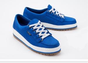 Mephisto blauw Leer Lace Up wandelen Hiking schoenen Trainers Womannens UK afmeting 8