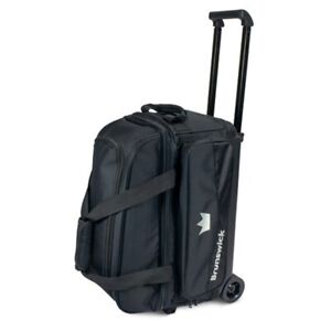 Details About Brunswick Zone 2 Ball Roller Bowling Bag Color Black