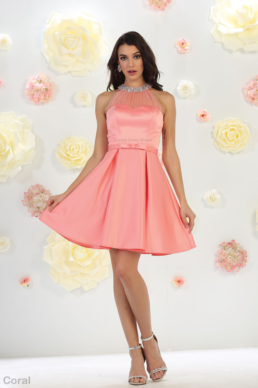 HOMECOMING PROM FLOWY SHORT DRESS COCKTAIL BIRTHDAY PARTY GRADUATION ...