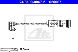 ATE 24.8190-0067.2 Warnkontakt Bremsbelagverschleiß