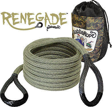 "Bubba Rope Renegade Recovery Rope - Gray 3/4"" x 20' Breaking Strength 19,000 lbs"