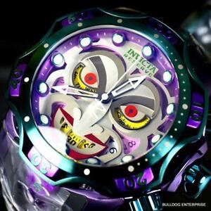 Invicta Reserve Venom DC Comics Joker Swiss Mvt Chronograph Watch 52mm New