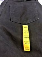 Faded Glory Relax Denim Black Jeans Size 36/34