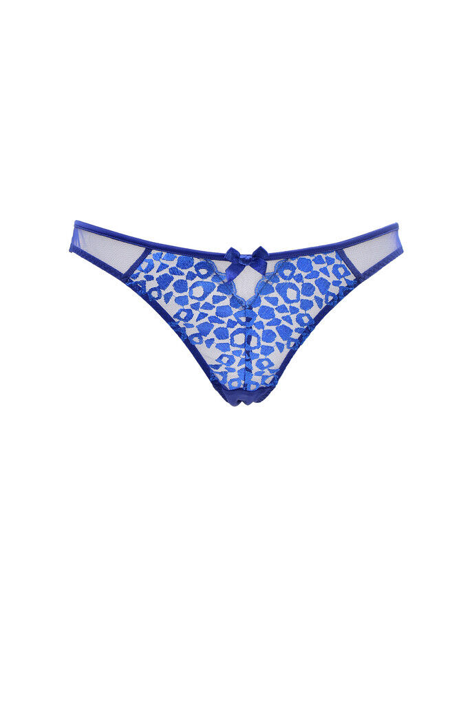 L'Agent by Agent Provocateur Women's New Animal Print Brief bluee RRP  BCF87