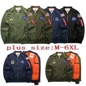Men-039-s-Warm-Winter-US-NASA-MA1-Flight-Bomber-Coat-Thick-Jacket-Baseball-Outwear-6