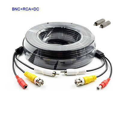 4X 150ft Audio Video Power Cable CCD Security Camera BNC RCA CCTV DVR Wire Cord
