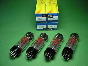4-x-EL34-JJ-ELECTRONIC-factory-matched-quad-EL-34-gt-tube-amp-Rohrenverstarker
