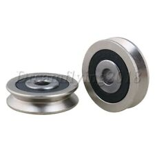 2pcs 6000rs Steel V Groove Sealed Ball Bearing Pulley Wheel Roller Guide