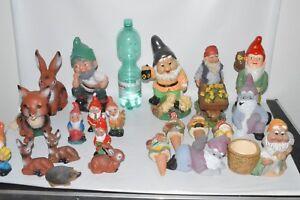 Détails sur Nain de Jardin Konvolu les Gnomes de Jardin / Fois Outil