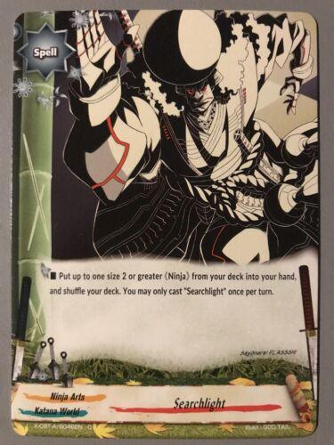 KATANA WORLD NINJA ARTS FUTURE CARD BUDDYFIGHT SEARCHLIGHT X-CBT-A//0046EN C