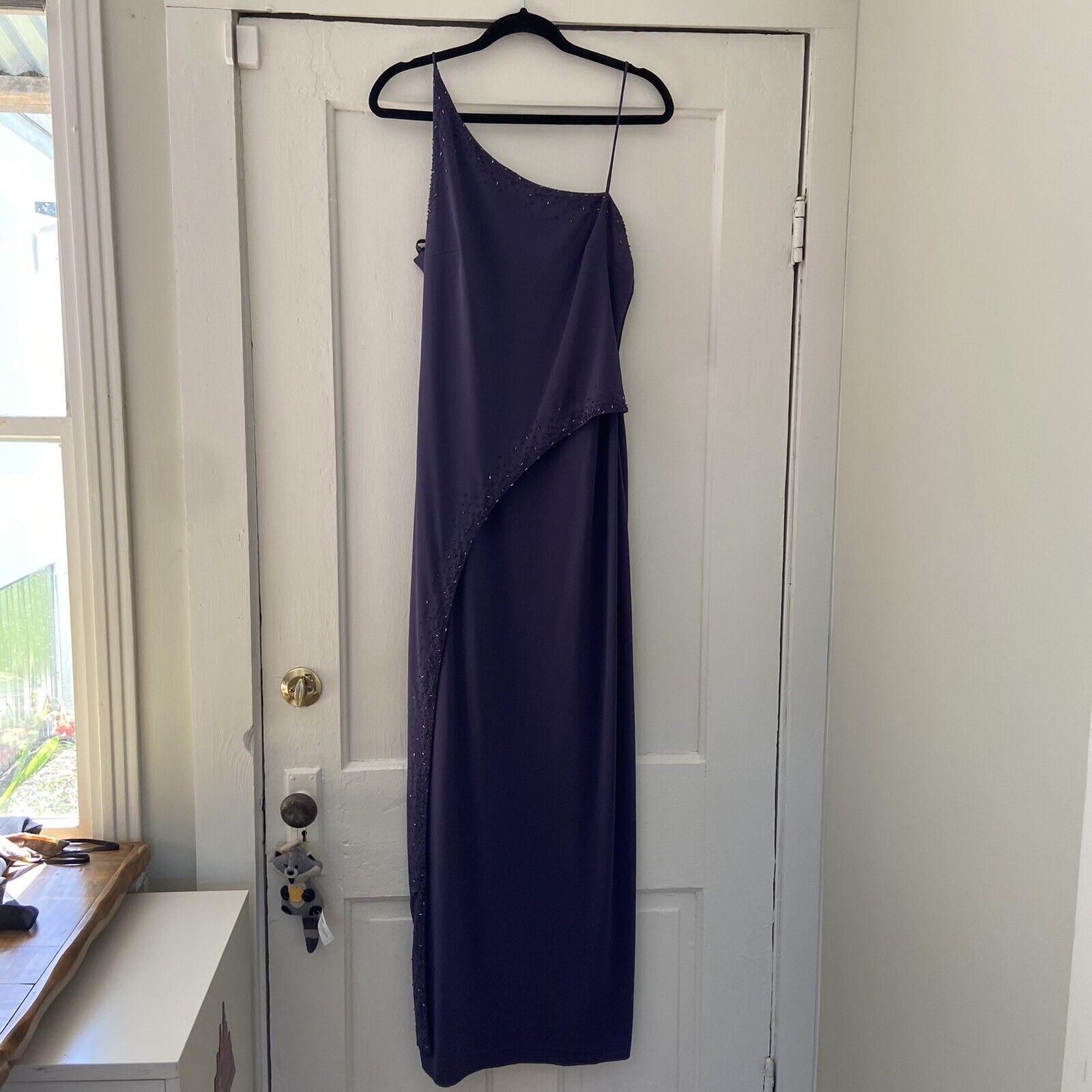 Niki by Niki Livas Purple Beaded Evening Gown Dress-Size 12-EUC
