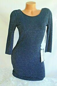 Blue glitter metallic tie back bodycon dress clothing brands list