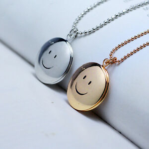 Gift smile peace smiley face necklace place lover photos pendant ebay image is loading gift smile peace smiley face necklace place lover aloadofball Choice Image