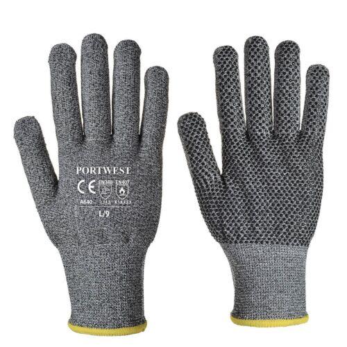 Toutes Tailles Portwest A640 Sabre-Dot Vêtements de Travail Gant PVC Gris