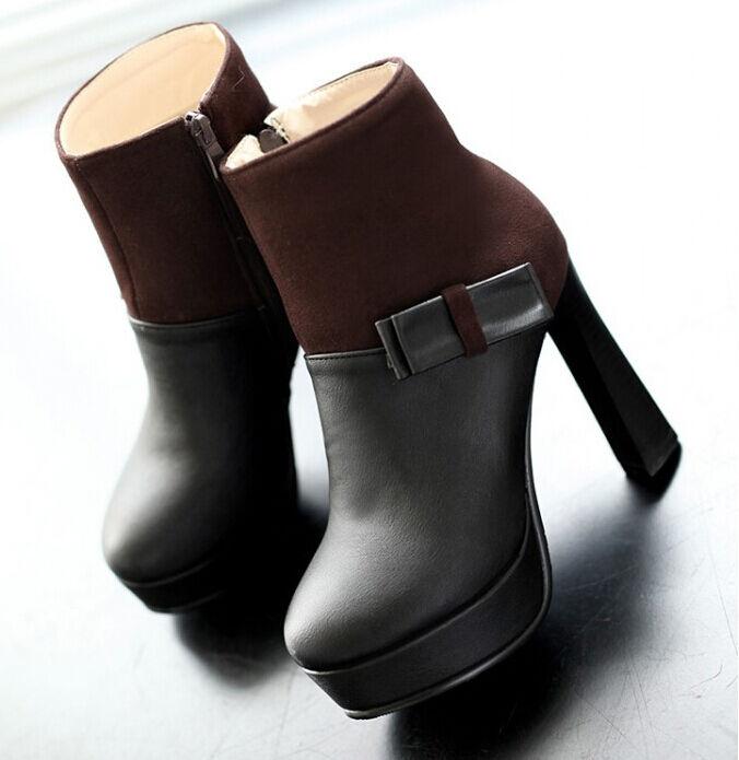Zapatos especiales con descuento botas invierno negro zapatos de tacón mujer 10.5 cm como piel 8783
