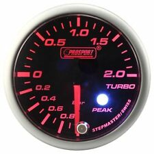 PROSPORT 60mm Premier Amber Red & Super White Led Turbo Boost Gauge BAR