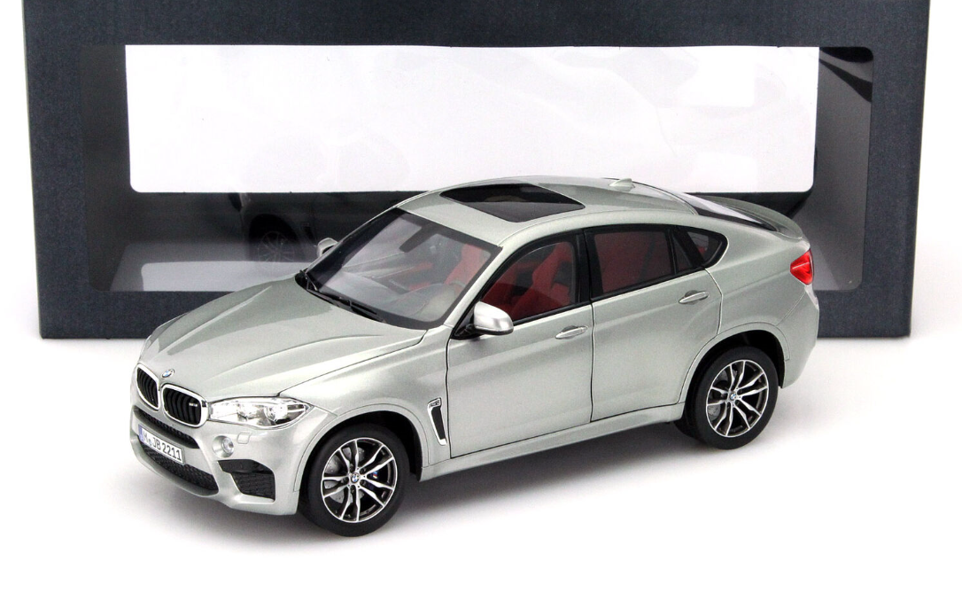 Genuine BMW X6 1 18 Scale Model in Silber 80432364886