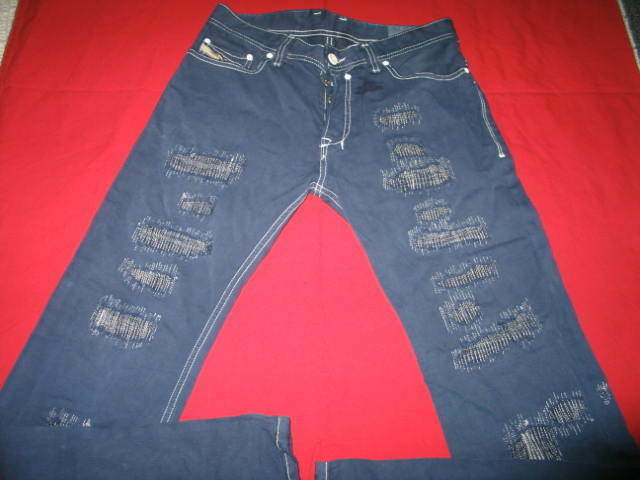 DIESEL Men's Safado Slim Straight From  29x32 Distressed Look