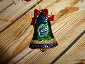Colorful Bell Enchanted Forest Christmas Tree Ornament ...