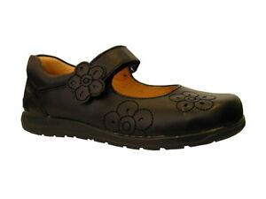 Garvalin Biomechanics Black Leather Mary Jane Girls School Shoe