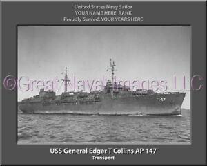 USS General W A Mann AP 112 Personalized Canvas Ship Photo Print Navy Vet