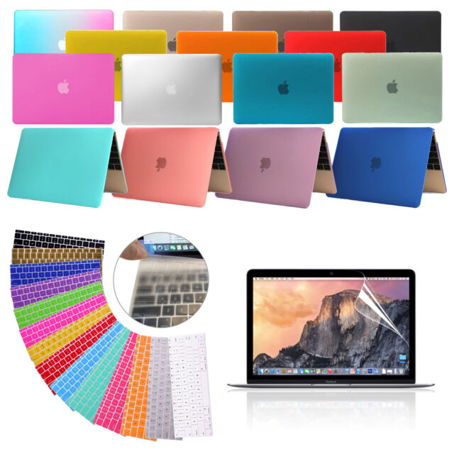 """MacBook Air 13.3"""" A1369 A1466 Rubberized Matte Shell Case+KB Cover+LCD Protector"""