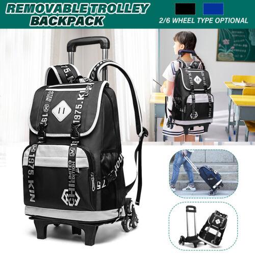 Christmas Girl Kids Student School Removable Trolley Backpack Travel Rucksack