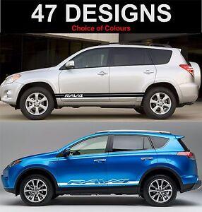 Image Is Loading Suzuki Rav4 Side Stripes Decals Graphics Stickers
