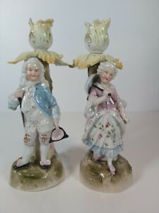 Conta-amp-Boehme-Germany-Figural-Candle-Holders-Appr-21cm-Tall